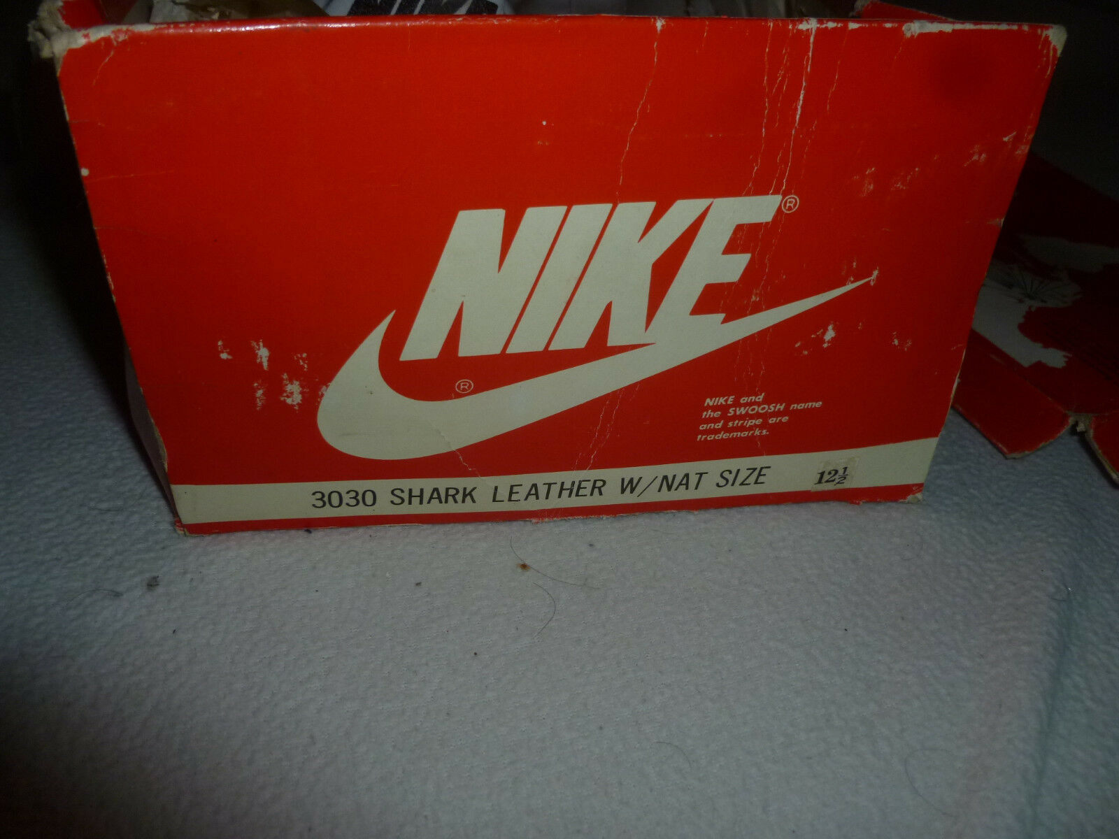NEW IN BOX VINTAGE 1980S 1980S 1980S NIKE 3030 SHARK LEATHER MENS SHOES CLEATS SIZE 12 1 2   1bec24