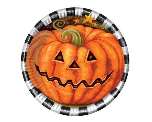 6 Flat with Pumpkin Halloween Ø 17 cm Party Party Pumpkin 210 98063