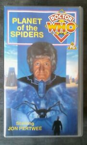 Doctor-Who-Planet-Of-The-Spiders-VHS-H-1991-2-Tape-Set