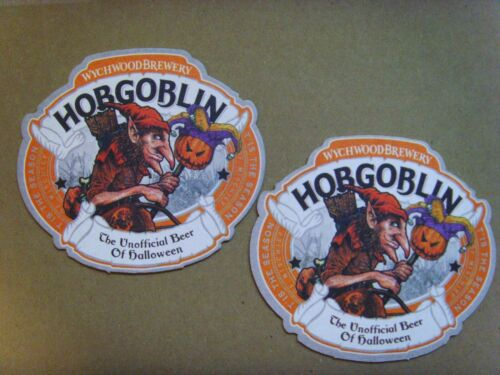 WYCHWOOD BREWERY HOBGOBLIN HALLOWEEN WHEEL OF MISFORTUNE NEW BEER MATS X 2