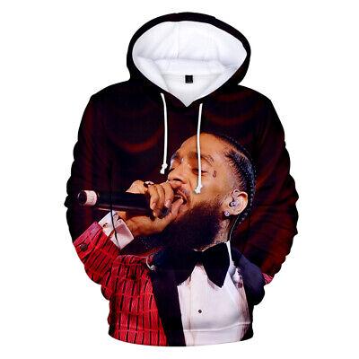 Nipsey Hussle Hoodie Memorial Zipper Print Hip Hop Legendary Cotton Sweater