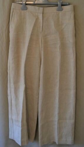 Theory Tan Linen Wide Leg Pants Size 8