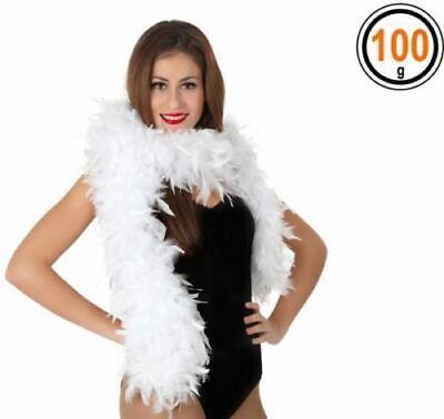 Accessori Carnevale Boa Di Piume Bianca 100 G Per Donna Charleston Atosa