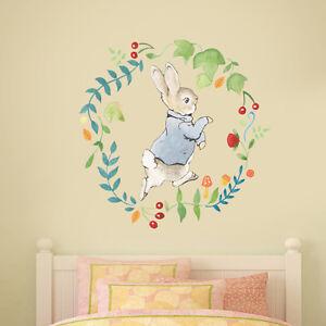 Details About Official Peter Rabbit Wreath Wall Sticker Mural