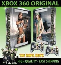 XBOX 360 OLD SHAPE CALL OF BOOTY ARMY GIRLS 01 STICKER SKIN & 2 PAD SKINS