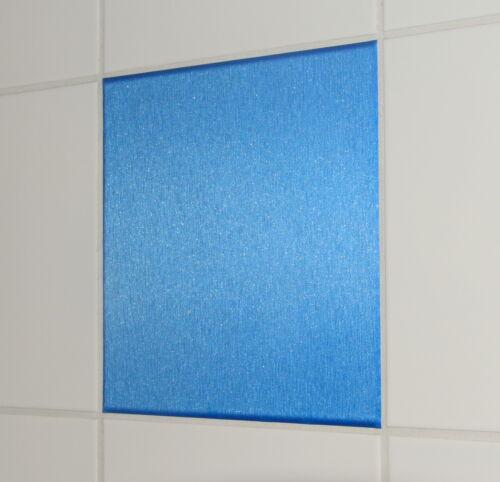 Alu gebürstet blau Fliesen Aufkleber Fliesen Folie Bad Küche Kacheldekor Sticker