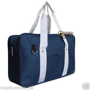 Fashion-Unisex-Blau-Beutel-Anime-Cosplay-Einkaufstasche-Handtaschen-School-Bag