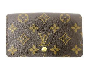 Auth Louis Vuitton Monogram Porte Monnaie Knüppel Tresor m61730 Portemonnaie 92019