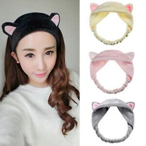 Women-Girl-Cute-Cat-Ear-Hair-Band-Spa-Headdress-Wash-Makeup-Tools-Headband-Gifts