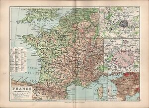 Map Of France Departments.Details About 1895 Victorian Map France French Departments Paris Environs Population Density