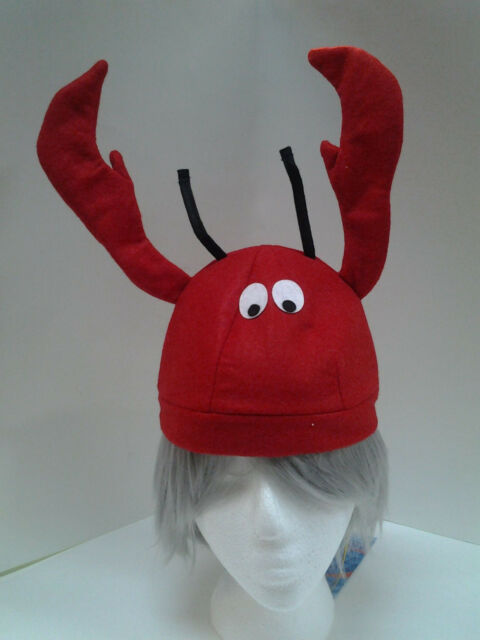 Lobster Seafood Fish Hat Red Felt Hat Ocean Fun Hat One Size Fits Most