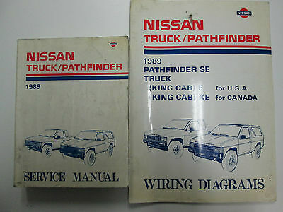 1989 nissan truck pathfinder service repair shop manual set factory oem used 89 ebay  1989 nissan truck and pathfinder wiring diagram manual original #13