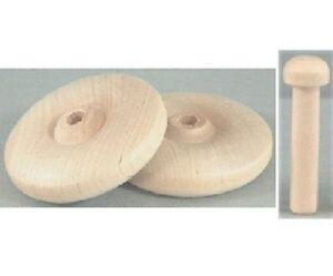 """1"""" wood wheels with axles hardwood wooden craft toy parts"""