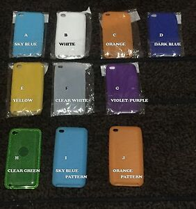 ORANGE-iPod-Touch-iTouch-4-4th-Gen-Colorful-Silicone-Rubber-Skin-Gel-Cover-Case