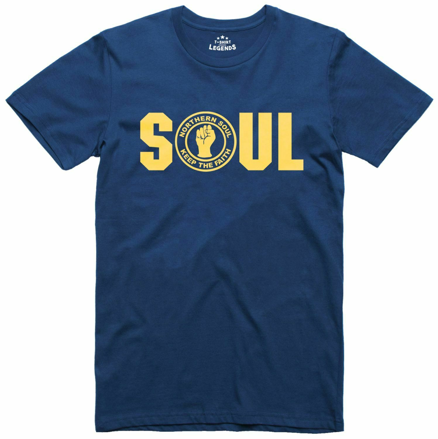 Soul Boy Northern Soul Keep The Faith Music Mens Loose Fit Cotton T-Shirt