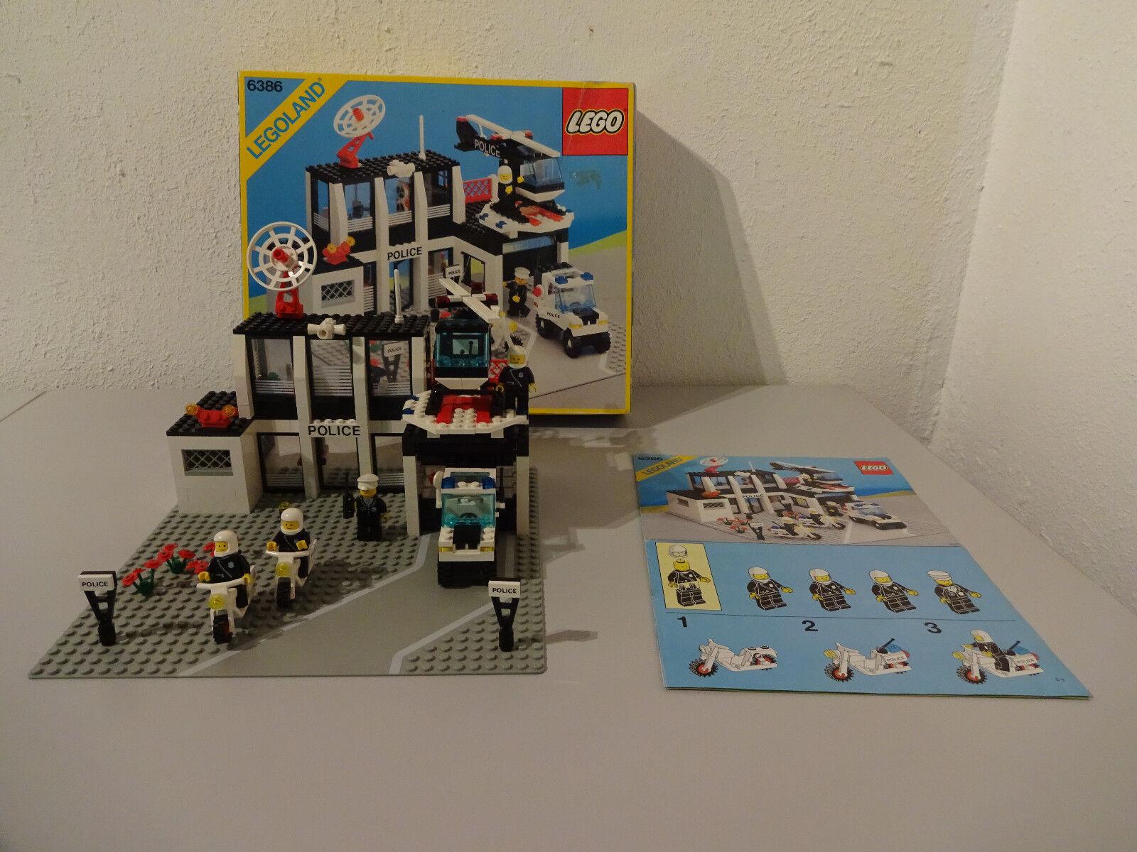 (GO) LEGO LEGOLAND 6386 MIT OVP & BA POLIZEISTATION 100% KOMPLETT TOP RAR SELTEN