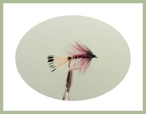 Wet Trout Flies Claret /& Olive Bumble 12  Bibio For Fly Fishing Size 10//12