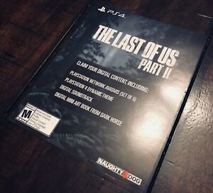 The Last Of Us Part II 2 Collector's Edition DLC Slip (NO GAME) Naughty Dog