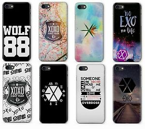Exo Kpop Boy Band Logo Art Plastic Rubber Phone Cover Case