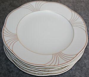 6-x-Arco-Gold-Fruehstuecksteller-21-cm-Kuchenteller-Villeroy-amp-Boch-NEU