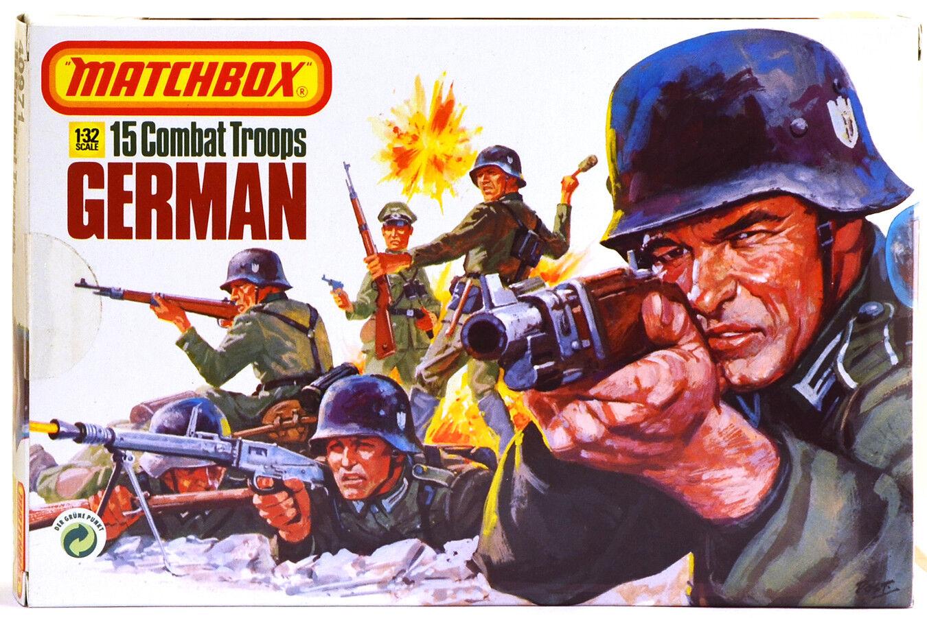 1983 Original Matchbox WWII German Infantry - 15 54mm figures - mib