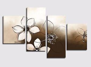 Quadri moderni astratti su tela dipinti a mano quadri con for Quadri ad olio con fiori
