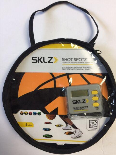 New SKLZ Shot Spotz Basketball Training Markers & Game Set w/Digital timer