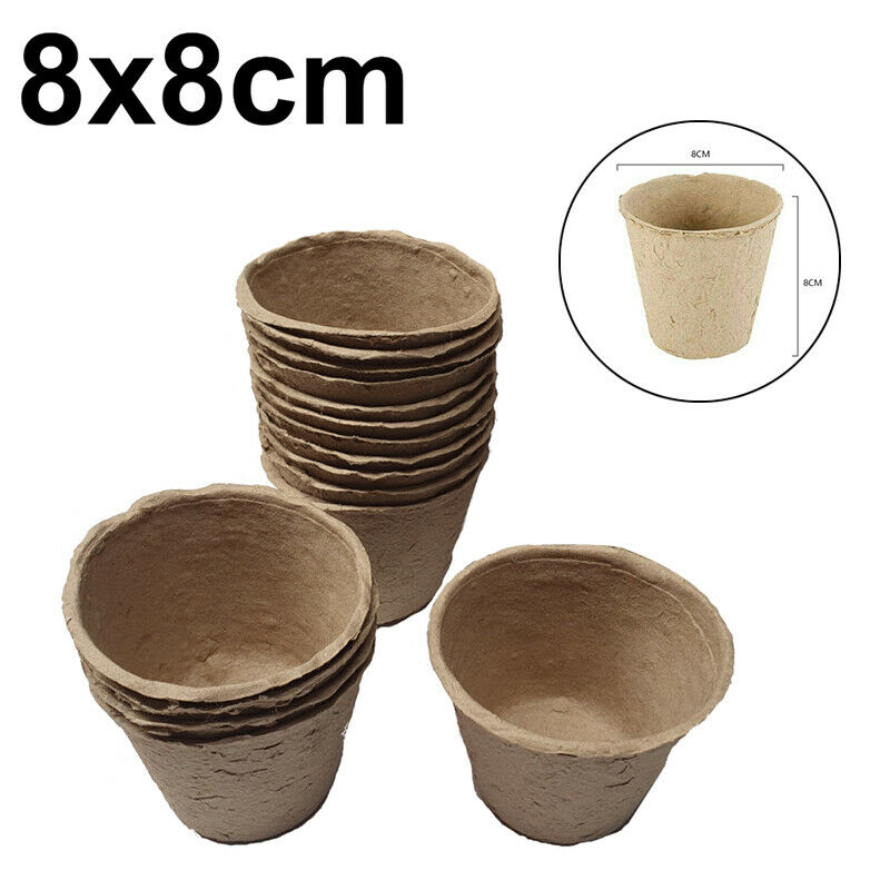 16pcs 8x8cm Formation Balanced Nutrient Mix Cultivation Pots With Peat Free