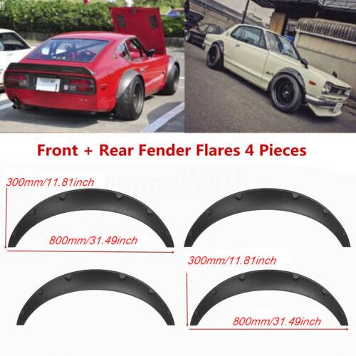 4pcs Universal Car Wheel Fender flares flexible yet durable polyurethane blackxj