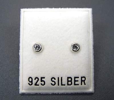 MüHsam Neu 925 Silber 4mm Ohrstecker Mit Swarovski Steine Crystal/kristallklar Ohrringe Um Jeden Preis Hochzeitsschmuck Uhren & Schmuck