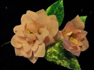 """Hair NQ2b Millinery Flower Pale Blue 1 1//2/"""" Flocked 6pc Velvet for Hat Wedding"""
