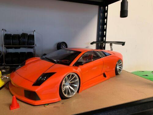 1:10 RC Clear Lexan Body Lamborghini 200mm Nitro or Electric Colt or Tamiya etc