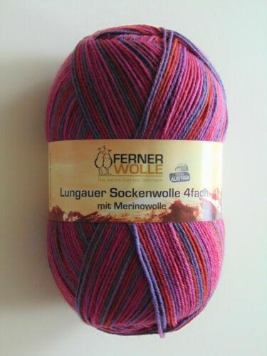 Garn fach 100g Lungauer 4 Ferner Sockenwolle Stricken 100g // 9,9