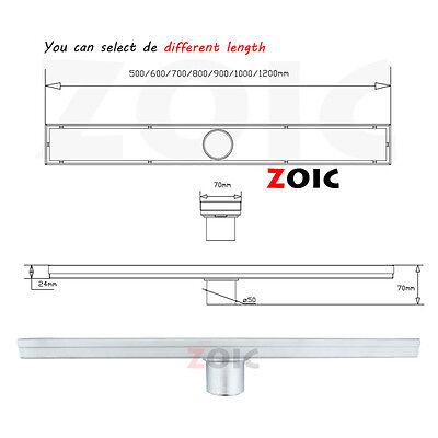 Multi size Stainless Steel Tile Insert Waste Water Shower Stealth Floor Drain OZ