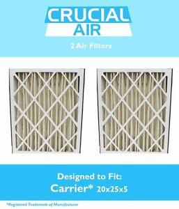 2 BRYANT CARRIER REPL AIR FILTERS MERV 8 11 OR 13 P102-2025 P102-1625 P102-2020