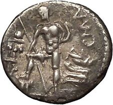 Roman Republic 96BC Mars Mallet Warrior Hero Ancient Silver Coin of Rome i53444