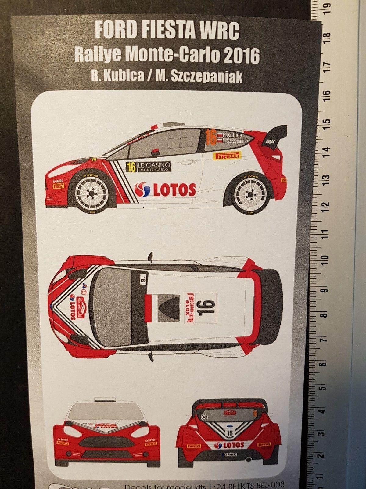 TRANSKIT 1/24 FORD FIESTA WRC -  16 - KUBICA - RALLYE MONTE CARLO 2016 - TK2414