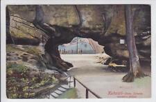 AK Sebnitz, Kuhstall, Aussere Höhle, Sächs. Schweiz, 1910