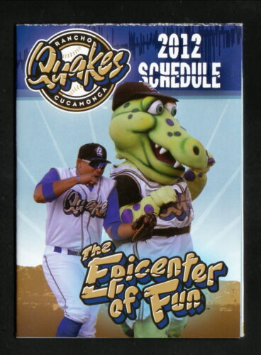 Rancho Cucamonga Quakes--2012 Pocket Schedule--Best Western--Dodgers Affiliate