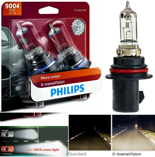 Philips X-Treme Vision 9004 HB1 65/45W Two Bulb Head Light High Low Beam Upgrade
