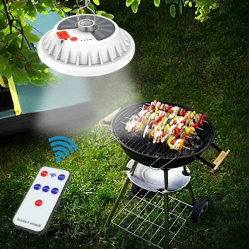 Rechargeable Solar Powered LED Bulb Lamp 5 Modes Emergency Light Outdoor Camping