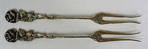 Two-Fork-Silver-um-1920-Heidelberger-Rose