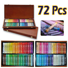 MUNGYO Gallery Artists Soft Oil Pastels Wooden case of 72 assorted colors