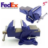 5 Bench Vise Heavy Duty Clamp 360 Swivel Locking Base Craft Vice Tool 6kg