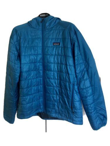 Patagonia Nano Puff Hoody - Men's Large, Blue