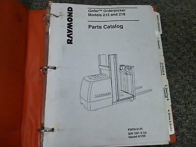 Raymond Models 212 218 Gofer Orderpicker Forklift Parts