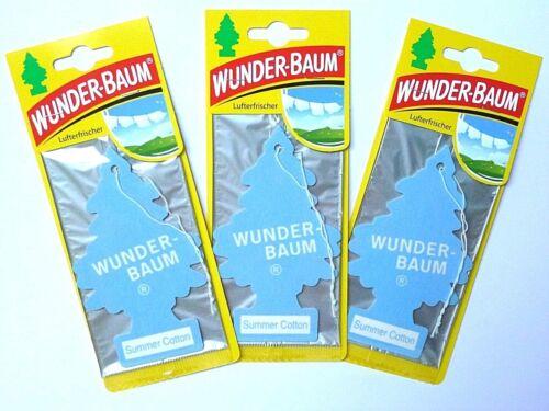 1,77€//Einheit 3 x WUNDER-BAUM® Summer Cotton Lufterfrischer Sommer Auto Duft