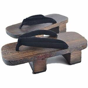b057485d59d72 Details about GK-O Mens Japanese Traditional Shoes Geta Wooden Clogs  Sandals (9US(27cm)) Black