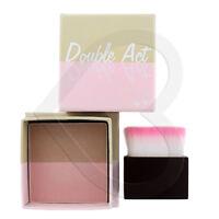 W7 Double Act Bronzer & Blusher/Highlighter Powder 8g