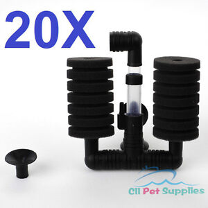 20-PCS-Small-Bio-Double-Sponge-Filter-Betta-Fry-Aquarium-Fish-Tank-XY-2831